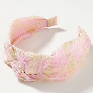 Anthropologie Picnic Pink Knotted Headband